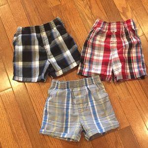 Three Garanimals Boys Plaid Shorts 18M